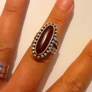 Vintage Carolyn Pollack Sterling Elongated Ring